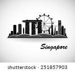 singapore skyline. city...   Shutterstock .eps vector #251857903