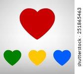 heart icon | Shutterstock . vector #251865463