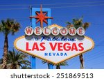 welcome to fabulous las vegas... | Shutterstock . vector #251869513