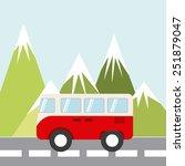 holiday travel design  vector... | Shutterstock .eps vector #251879047