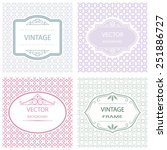abstract flat vintage frame... | Shutterstock .eps vector #251886727