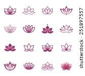 Lotus Symbol Icons. Vector...