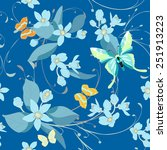 seamless pattern with... | Shutterstock .eps vector #251913223