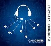call center design  vector... | Shutterstock .eps vector #251913487