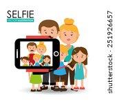 selfie design over white...   Shutterstock .eps vector #251926657