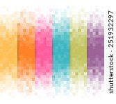 abstract pixel background. | Shutterstock .eps vector #251932297
