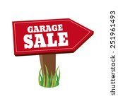 abstract garage sale object on... | Shutterstock .eps vector #251961493