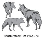 coyotes | Shutterstock .eps vector #251965873