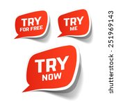 try now  try for free and try... | Shutterstock .eps vector #251969143