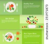 set of horizontal business... | Shutterstock .eps vector #251971873