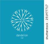 dandelion logo template.... | Shutterstock .eps vector #251977717