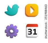 simple shape icons. bird  play...