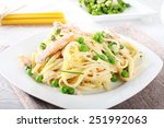 Pasta With Salmon And Peas On...