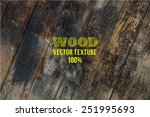 vector wood texture. background ... | Shutterstock .eps vector #251995693
