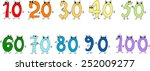 funny numbers | Shutterstock .eps vector #252009277