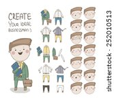 create your ideal businessman.... | Shutterstock .eps vector #252010513