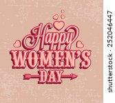 international women's day... | Shutterstock .eps vector #252046447