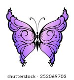abstract decorative butterfly.... | Shutterstock .eps vector #252069703