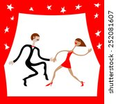 boy and girl dancing. none... | Shutterstock .eps vector #252081607