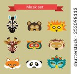 Set Of Animal Masks For Costum...