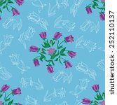 seamless floral pattern with... | Shutterstock .eps vector #252110137