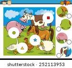cartoon illustration of match... | Shutterstock . vector #252113953