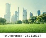 park in  lujiazui financial...   Shutterstock . vector #252118117