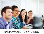 education concept   students... | Shutterstock . vector #252124807