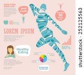 healthy infographic ... | Shutterstock .eps vector #252125563