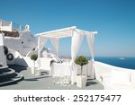wedding decoration on santorini ... | Shutterstock . vector #252175477