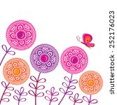 Decorative Spring Flowers With...