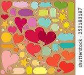 colorful  speech bubbles.... | Shutterstock .eps vector #252183187