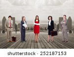 group of business people team... | Shutterstock . vector #252187153
