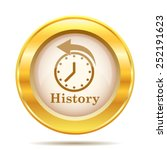 history icon. internet button... | Shutterstock .eps vector #252191623