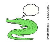 cartoon crocodile with thought... | Shutterstock . vector #252200857