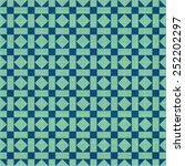 retro blue green ornate mosaic... | Shutterstock .eps vector #252202297