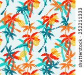 seamless pattern with... | Shutterstock .eps vector #252211333