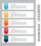 infographic design elements for ... | Shutterstock .eps vector #252220033