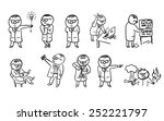 a set of doodle scientist... | Shutterstock .eps vector #252221797