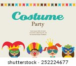 invitation for costume party.... | Shutterstock .eps vector #252224677