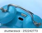 blue alarm clock  closeup of... | Shutterstock . vector #252242773