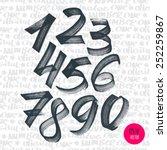 Alphabet Numbers Digital Style...