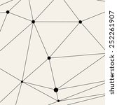vector modern pattern. black... | Shutterstock .eps vector #252261907