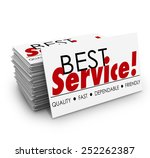 best service words on a... | Shutterstock . vector #252262387