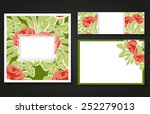 set of invitations with floral... | Shutterstock . vector #252279013