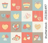 collection of different hearts... | Shutterstock .eps vector #252281497