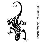 lizard tribal tattoo | Shutterstock . vector #252301837