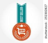 simple vintage best seller badge | Shutterstock .eps vector #252302827