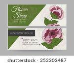 website header for flower show...   Shutterstock .eps vector #252303487