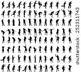 vector silhouettes of people... | Shutterstock .eps vector #252311743
